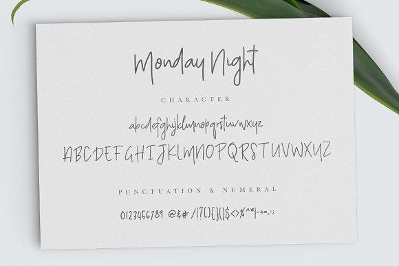 Monday Night Font in Script Fonts - product preview 4