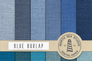 Blue Jute Digital Paper