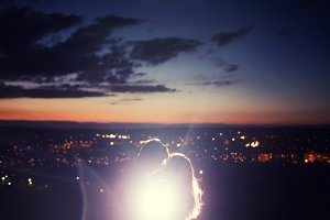 Lovers kiss dark star