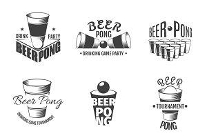 Beer pong labels