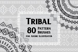 80 Tribal Pattern Brushes