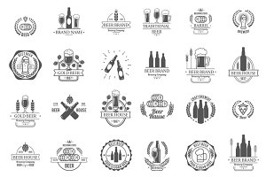 Vector logos for beer house or pub