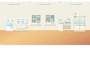 Scientific laboratory interior flat