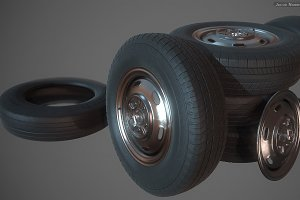 High Poly - Tires and Textures