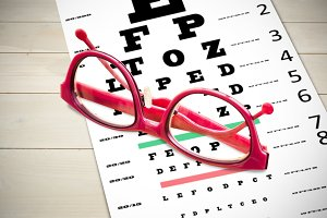 Composite image of reading glasses
