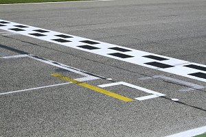 Finish line and pole position