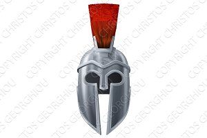Spartan helmet illustration