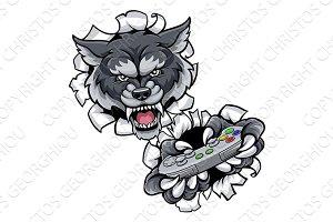 Wolf Esports Gamer Animal Mascot