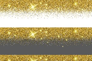 Vector gold glitter card templates