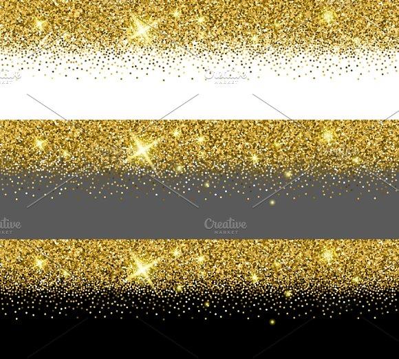 Vector Gold Glitter Card Templates