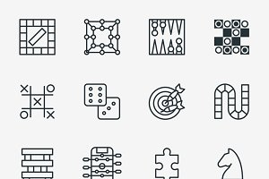 Board and party games icons