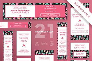 Banners Pack | Summer Party
