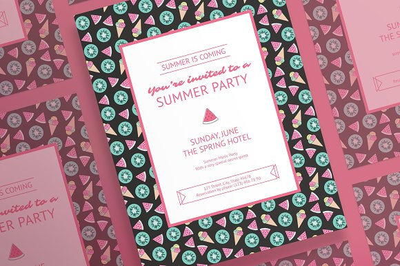 Posters Summer Party