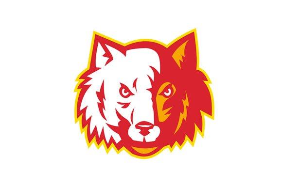 Wild Dog Wolf Head Front