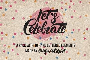 Hand Lettering Celebration Pack