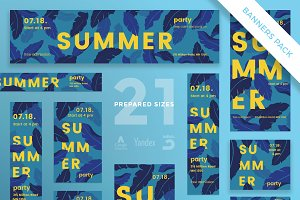 Banners Pack | Summer Leaves