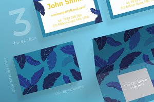 Business Cards | Summer Leaves