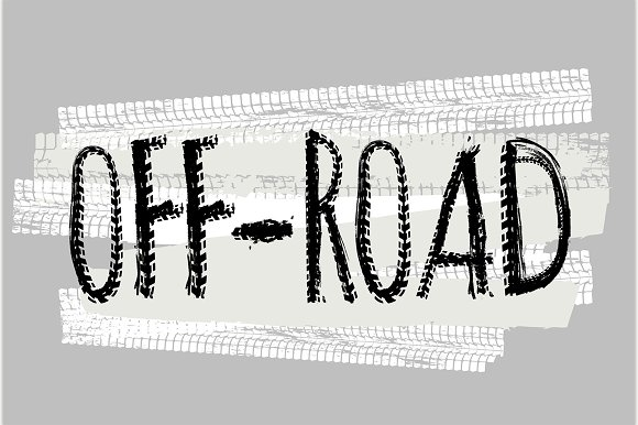 Motorcycle Off-Road Lettering