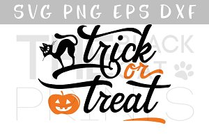 Trick or treat SVG DXF PNG EPS