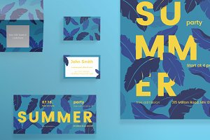 Print Pack | Summer Leaves