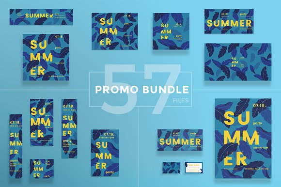 Promo Bundle Summer Leaves