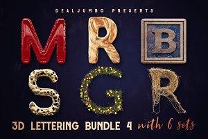3D Lettering MegaBundle 4