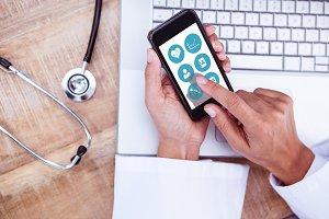 Composite image of medical app