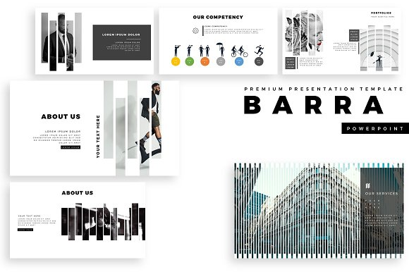 barra premium powerpoint template presentation templates