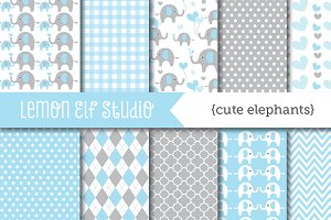 Cute Elephants Paper (LES.DP10A)