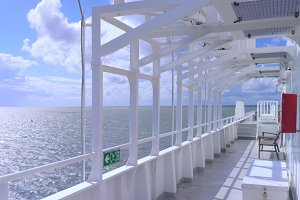Deck of a sea ferry