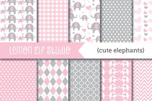Cute Elephants Paper (LES.DP10C)