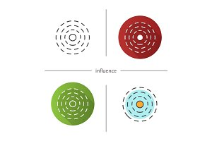 Influence abstract symbol icon