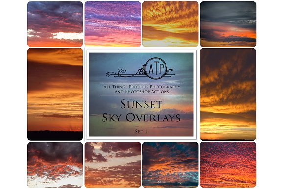 Fine Art SUNSET Sky Overlays