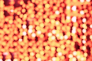 Orange spot bokeh background
