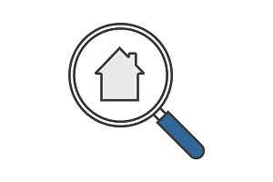 Real estate search color icon