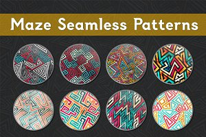 Maze Seamless Patterns