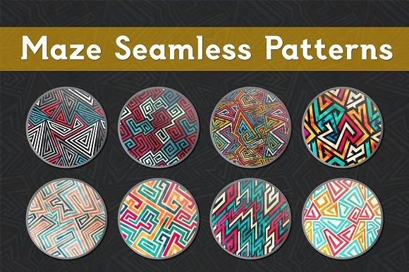 Maze Seamless Patterns
