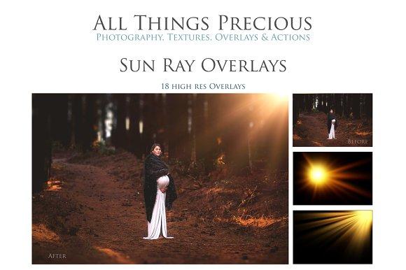 Fine Art SUN RAY FLARE Overlays
