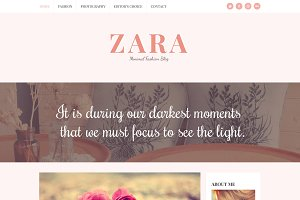 Zara - Minimal Fashion Blog Template