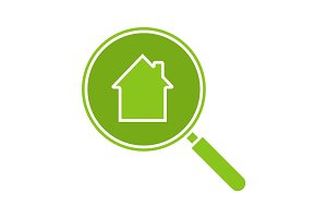 Real estate search glyph color icon