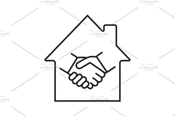 Real Estate Deal Linear Icon