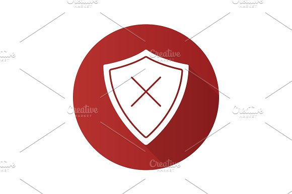 Security Flat Design Long Shadow Glyph Icon