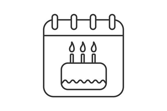 Birthday Date Linear Icon