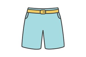 Swimming trunks color icon