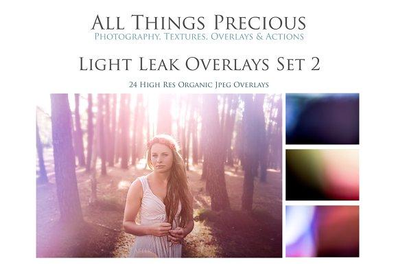 Fine Art Light Leak Overlays Set 2