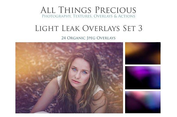 Fine Art Light Leak Overlays Set 3