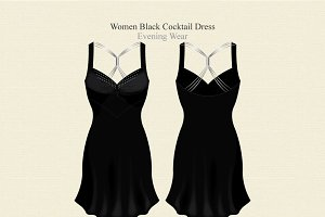 Women Black Cocktail Dress