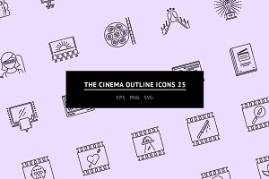 The Cinema Outline Icons 25