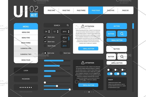 Vector UI Template