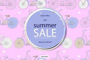 Super summer bike sale concept